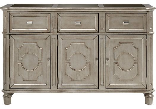 Rooms To Go Belle Terra Silver Sideboard