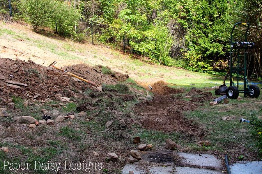 A Dry Creek Bed, for beauty and drainage Landscaping