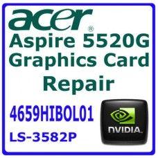 4659HIBOL01 - Servicio de Reparación de la tarjeta gráfica del ordenador portátil para ACER 5320G 5520G 5920G 7520G