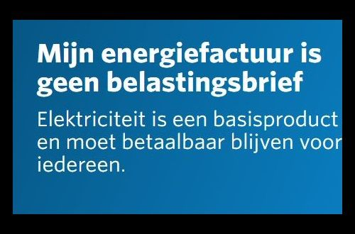 Test-Aankoop start manifest voor een betaalbare elektriciteitsfactuur