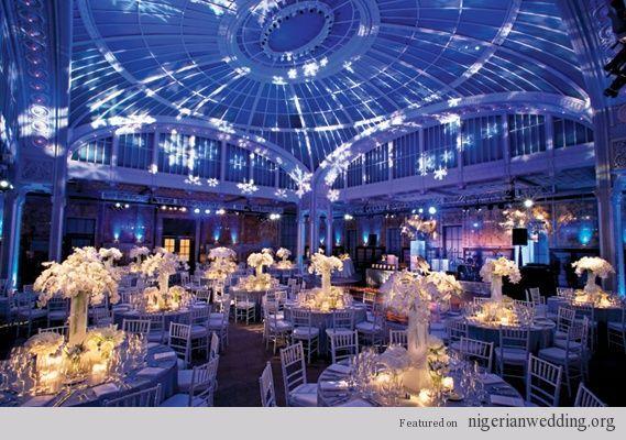 Nigerian Wedding 15 Stunning Blue Reception Lighting To Help You Set The Mood