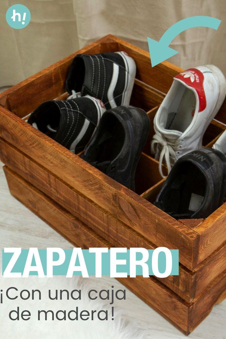 Como Crear Un Zapatero Con Una Caja De Frutas Muebles Para Zapatos Cajas De Fruta Organizacion Zapatos