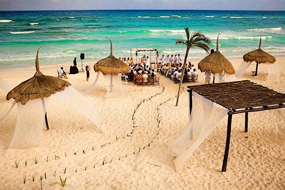 Stunning Beach Wedding Ceremony Ideas: Stunning Beach Wedding Aisle And Ceremony Design. Beach