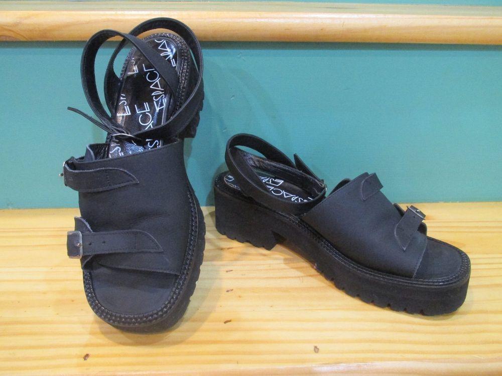 Espace by Robert Clergerie Black Sandalette Platform Sandals