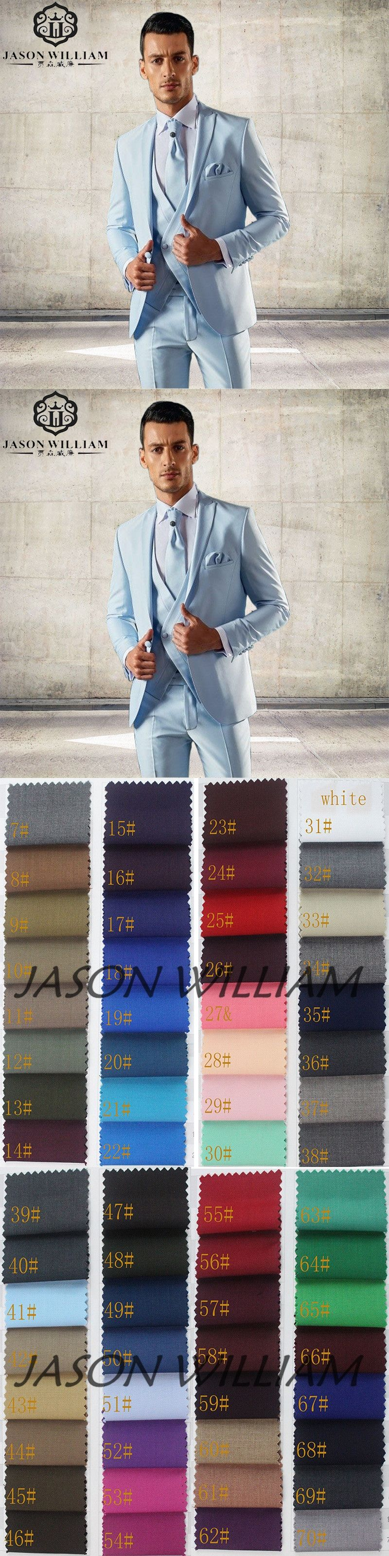 Ln light blue multistyle tailor made slim fit suits for men