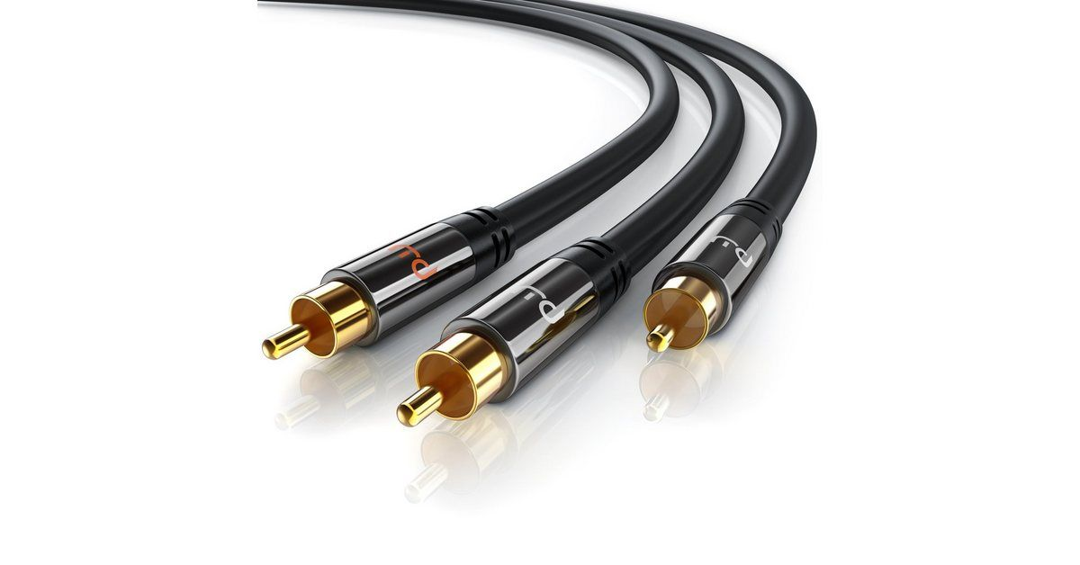 Y-Cinch HiFi Audio-Kabel mehrfach geschirmt »2x Cinch zu 1x Cinch / Premium Series«