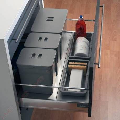 poubelle pour tiroir poubelles tiroirs coulissantes. Black Bedroom Furniture Sets. Home Design Ideas