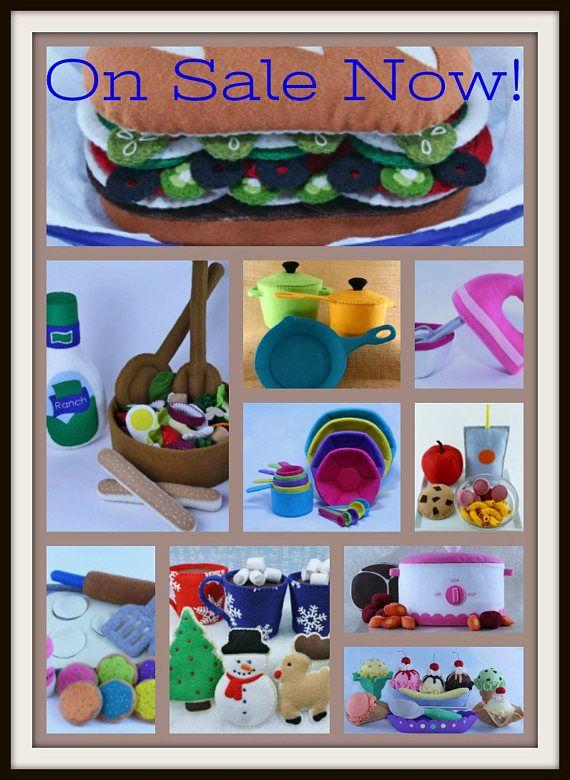 Felt Food Pattern, Felt Food Toys, Felt Food Sewing Pattern, Felt ...