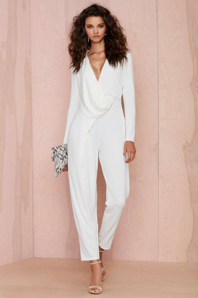 Nasty Gal Swipe Right Drape Jumpsuit | Shop What\'s New at Nasty Gal ...