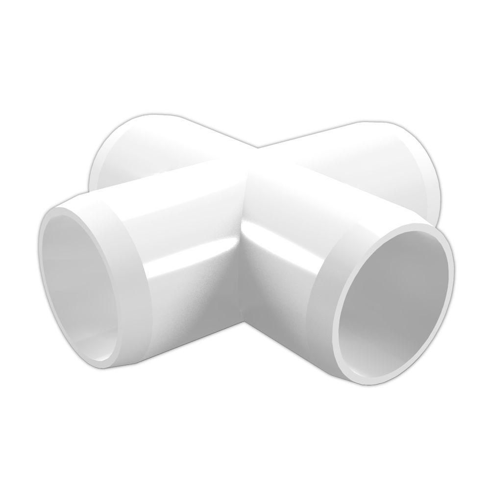 1 In Furniture Grade Pvc Cross In White 4 Pack Pvc Fittings Furniture Grade Pvc Pvc