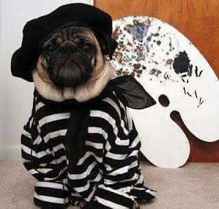 Painter pug to cute