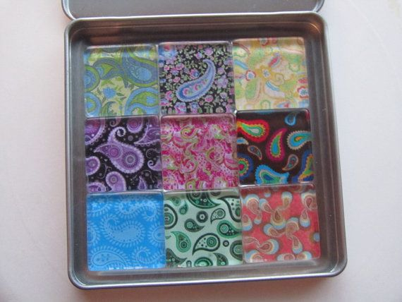 Paisley Fridge Magnets  Fun Mix Refrigerator Magnets by DLRjewelry, $16.00