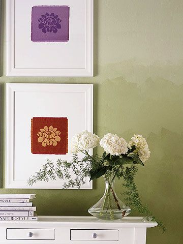 Damask Fabric Painting Technique
