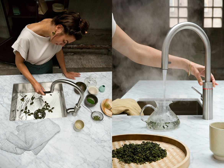 Kochend Heisses Wasser Aus Dem Wasserhahn Mit Dem Quooker Wasserhahn Kuche Schweizer Kuche Fertigsuppen