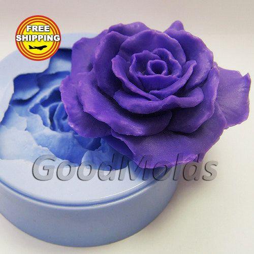 Pretty Rose Fleur Moule silicone Belle Cake Topper Fondant outil Moule