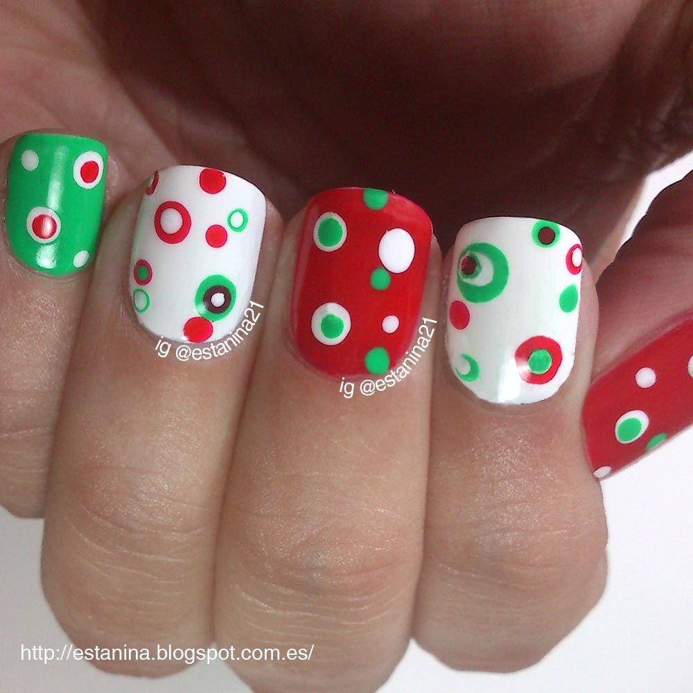 Las primeras uñas de esta temporada navideña!   Christmas / Holiday ...