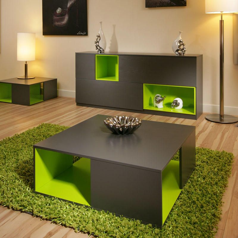 Stunning Lime Green And Grey Bedroom For Peaceful Atmosphere : Beautiful  Coffee Table Design Green Rug