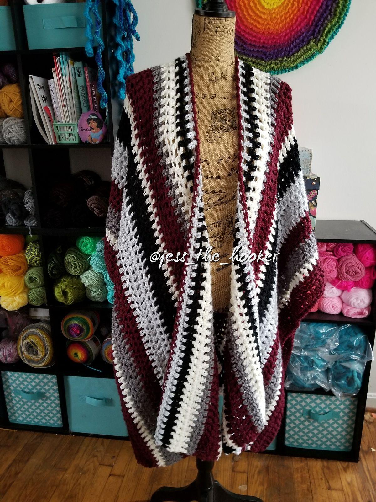 The Maggie Ruana By Jessica Fulcher - Free Crochet Pattern ...