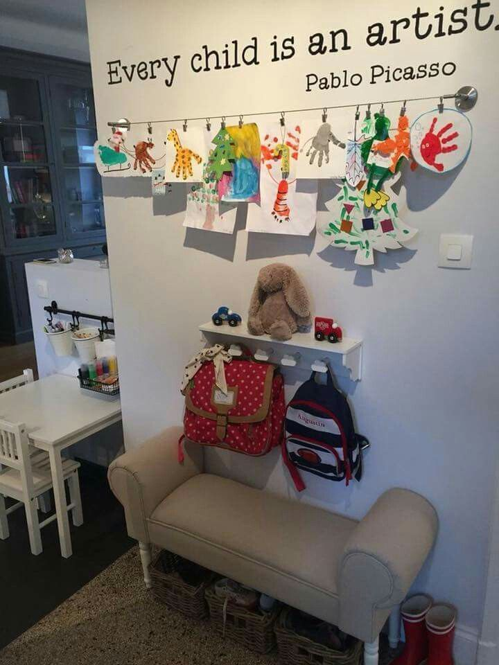 Love the idea of hanging his craft in playroom, #Craft #dreamhouseplayroom #hanging #idea #L...