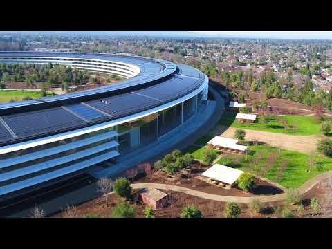 First Apple Park Drone Video of 2018 Captures Footage of