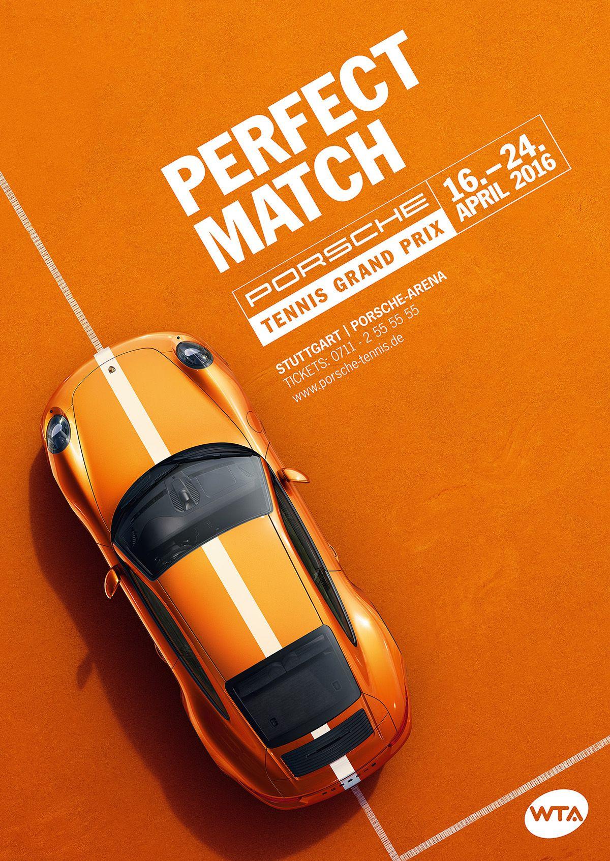 Porsche Tennis Grand Prix 2016 by Nicholas Schurr. poster