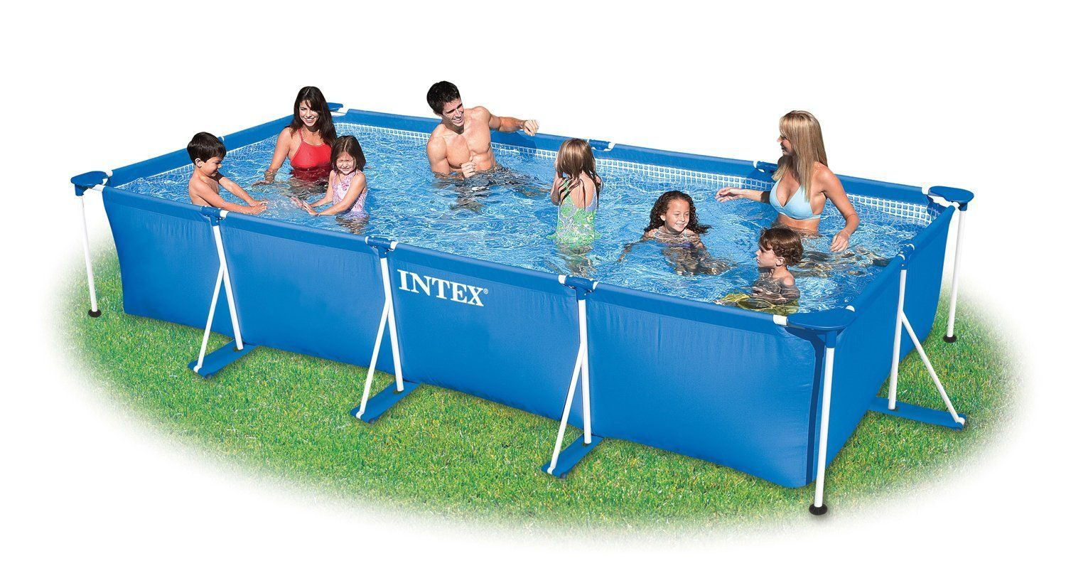 Intex Small Family Frame Pool 4.5m X 2.2m X 0.84m #28273: Amazon.