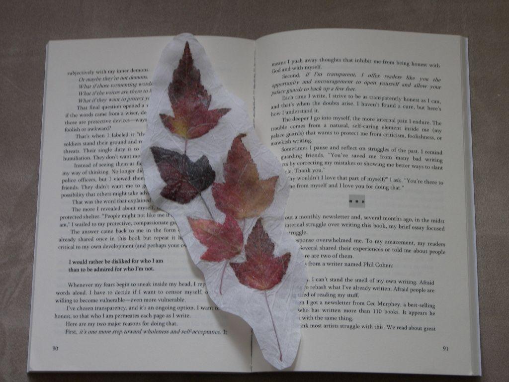 Knutselen Met Herfstbladeren Maak Een Boekenlegger Van