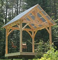 Gazebo 10x 10 For Outdoor Cooking Or Backyard Shelter Heavy Timbers Traditional Timber Frame Construction In Small Special Structures Create