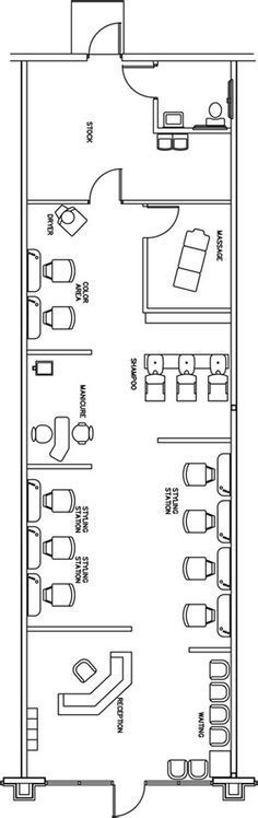 Beauty Salon Floor Plan Design Layout - 1400 Square Foot ...
