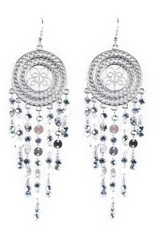Filigree Chain and Beads Earrings  Deb Shop $3.99