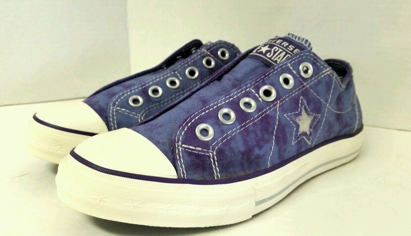 8e3c5737aacf1c Women s Converse One Star Laceless Slip on Blue Purple Size 8 Shoe Low Top