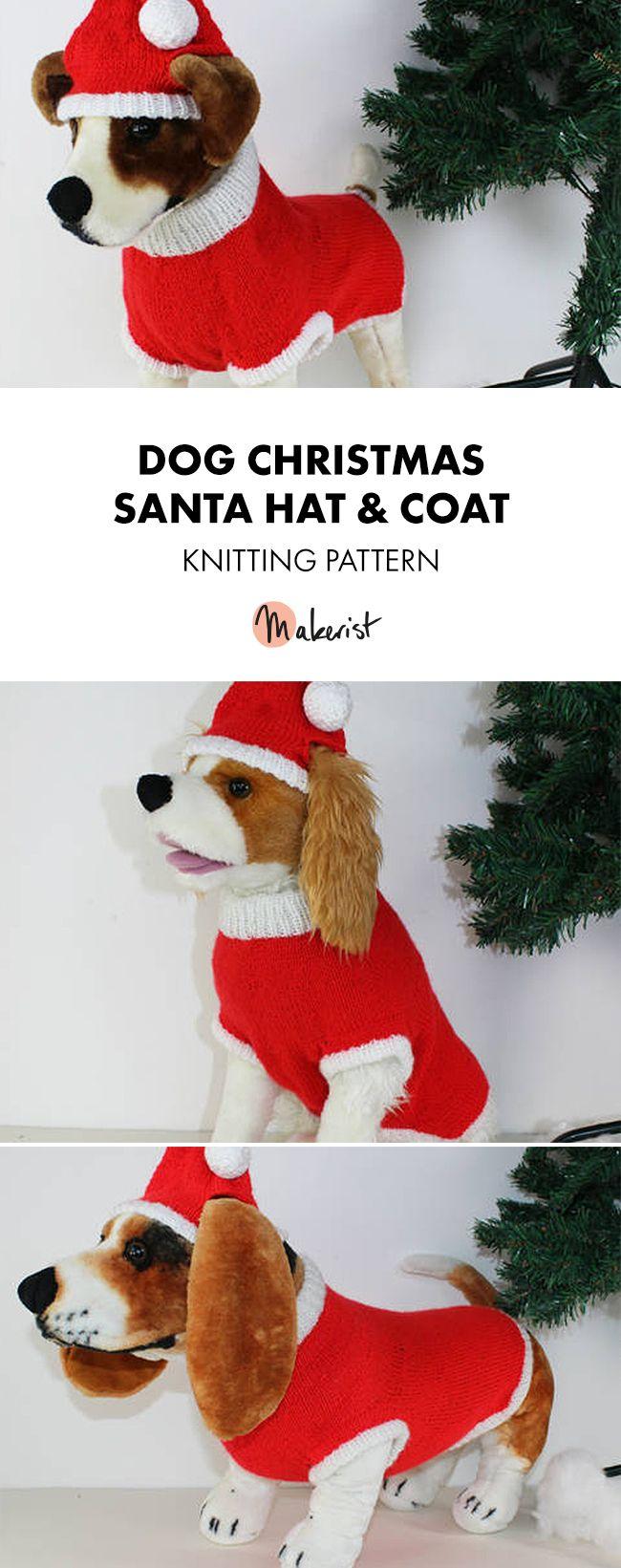 Dog Christmas Santa Hat And Coat Circular Christmas Dog Fun Christmas Outfits Dog Clothes Diy