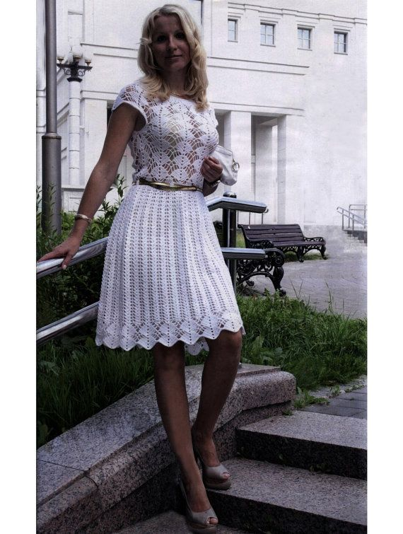 Cocktail crochet dress pattern crochet wedding by FavoritePATTERNs ...
