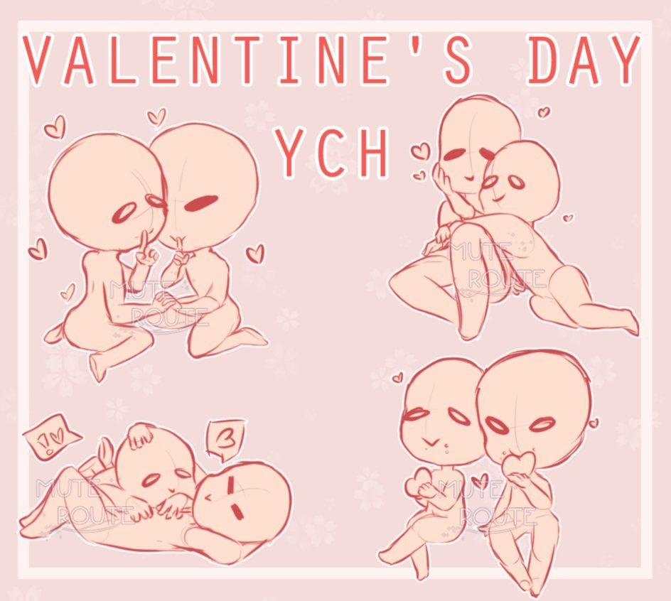 Closed Ych Valentine S Day By Muteroute Bases Pinterest