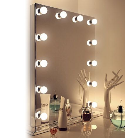 Hollywood Mirrors Hollywood Mirror With Lights Makeup