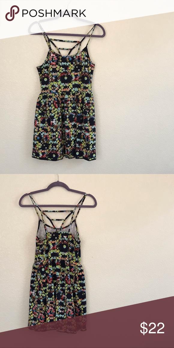 63380ee8faed Sun dress Navy blue geometric print sun dress Dresses Mini
