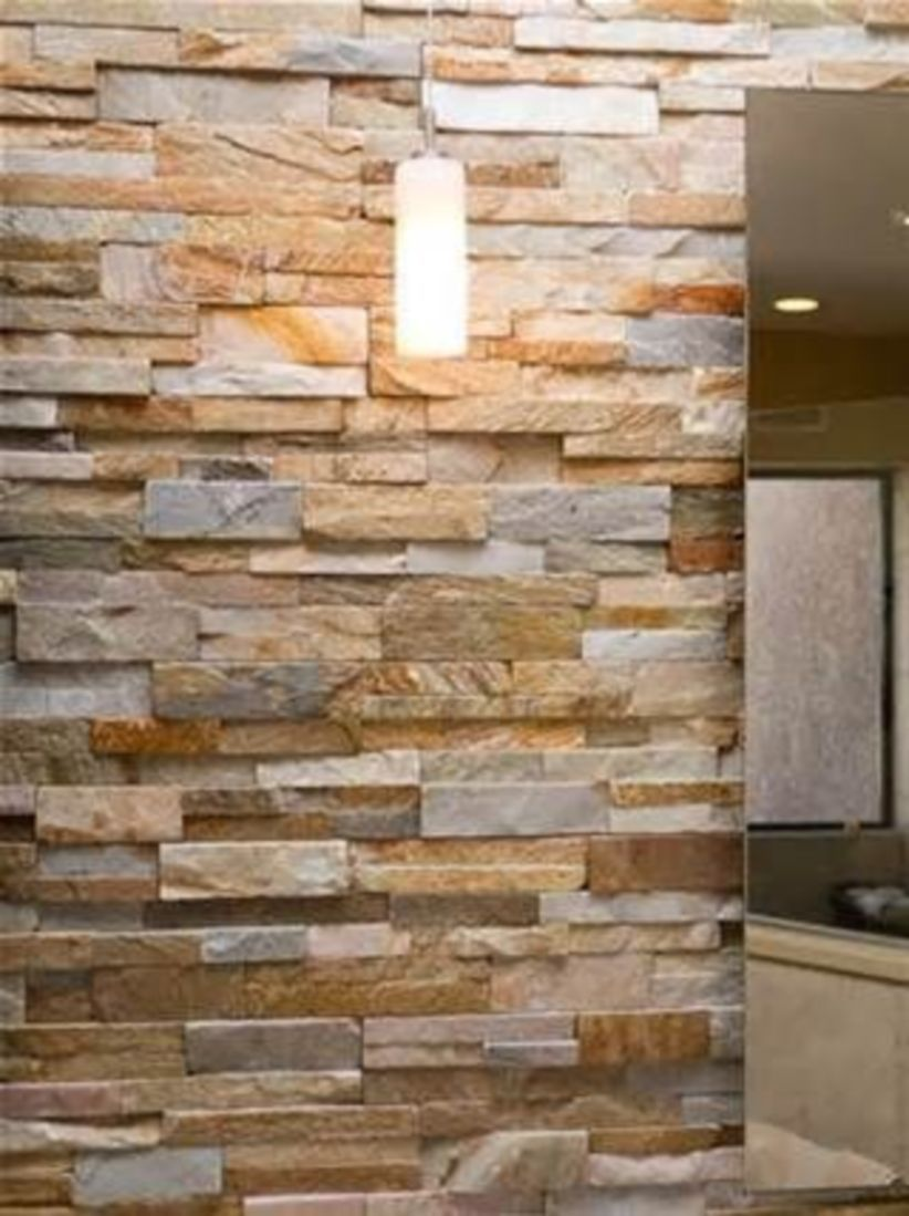 48 unique dry stacked tile design ideas home decor stacked stone rh pinterest com