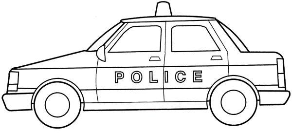 a car police coloring page police car car coloring pages - Police Car Coloring Pages