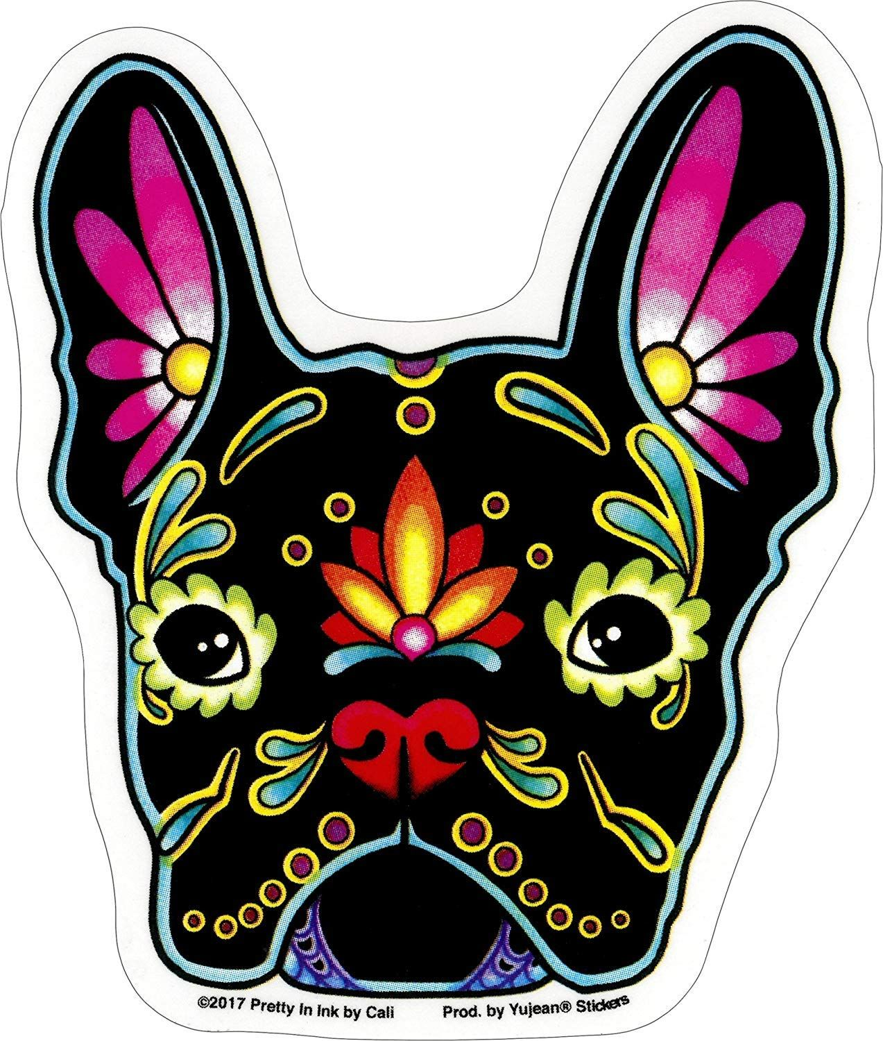 French Bulldog Sugar Skull Sticker From Amazon Click For Link
