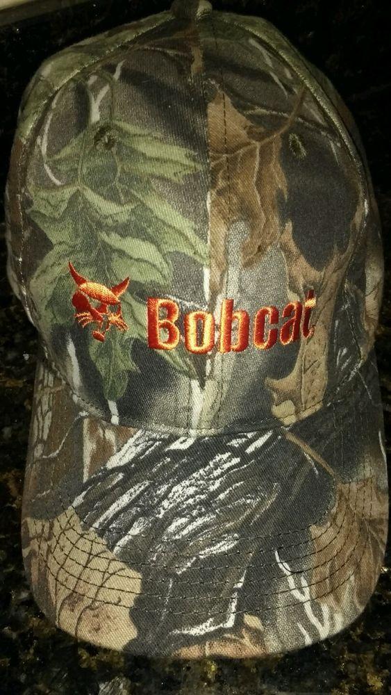 Bobcat Heavy Equipment Realtree Camo Adjustable Logo Hat Cap Nwot Bobcat Baseballcap Hats Realtree Camo Hats Vintage