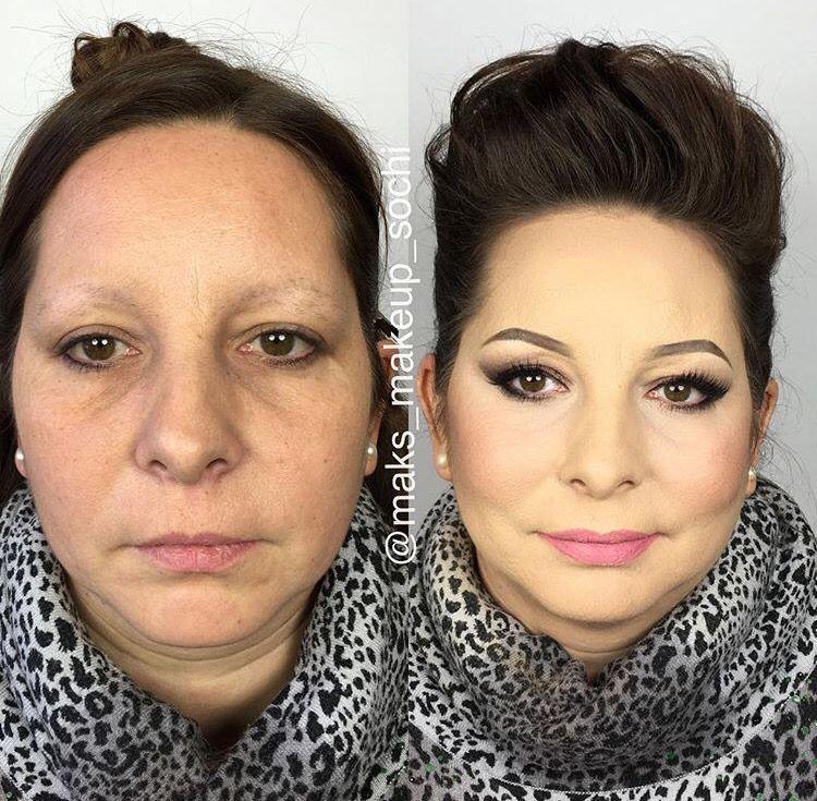 Pin by 𝓜𝓪𝔂 𝓐. •♥ on MU Bᴇғᴏʀᴇ & Aғᴛᴇʀ Makeup for older