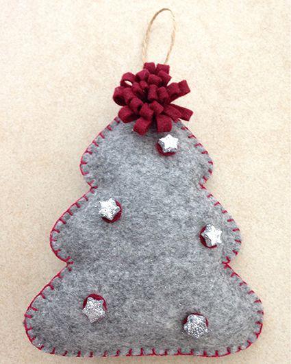 Lavoretti Di Natale Fai Da Te Pannolenci.Felt Christmas Tree Albero Di Natale In Feltro Pannolenci