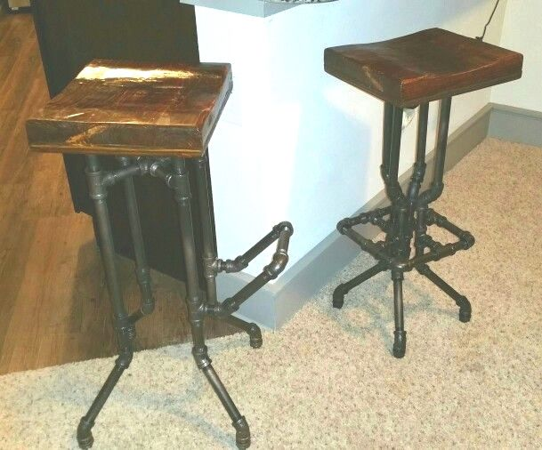Amazing Piped Bar Stools Made By Djri Plumbing Hardware Creativecarmelina Interior Chair Design Creativecarmelinacom