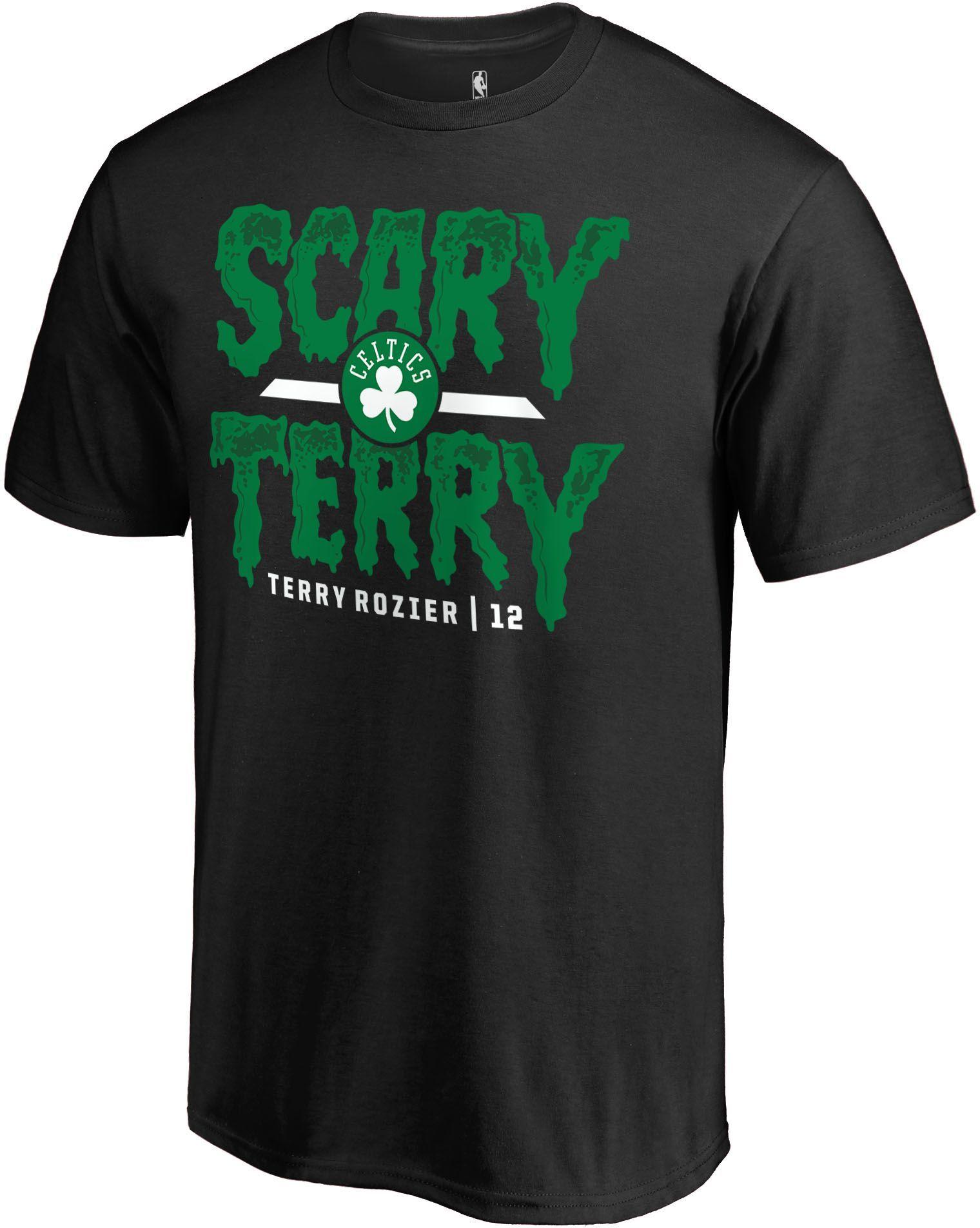 "detailed look f1ecc e8029 NBA Men's Boston Celtics Terry Rozier ""Scary Terry"" Black T ..."