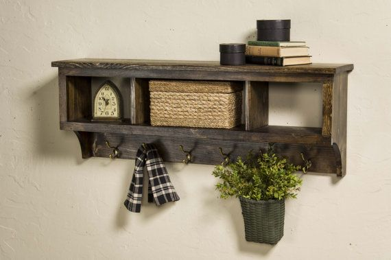 Wood Cubby Coat Rack 42 Wide With 3 Cubbies Entryway Storage Unit With Cubbies And Coat Hooks Foyer Shelf With Hooks Wood Cubbies Buy Wood