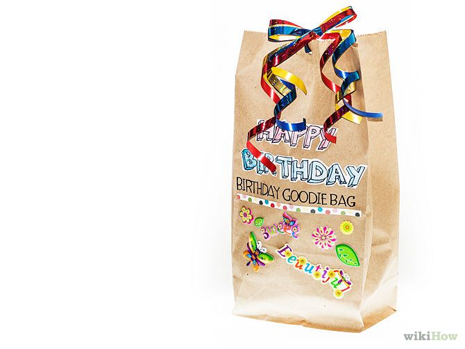 How To Make A Birthday Goodie Bag For Adults