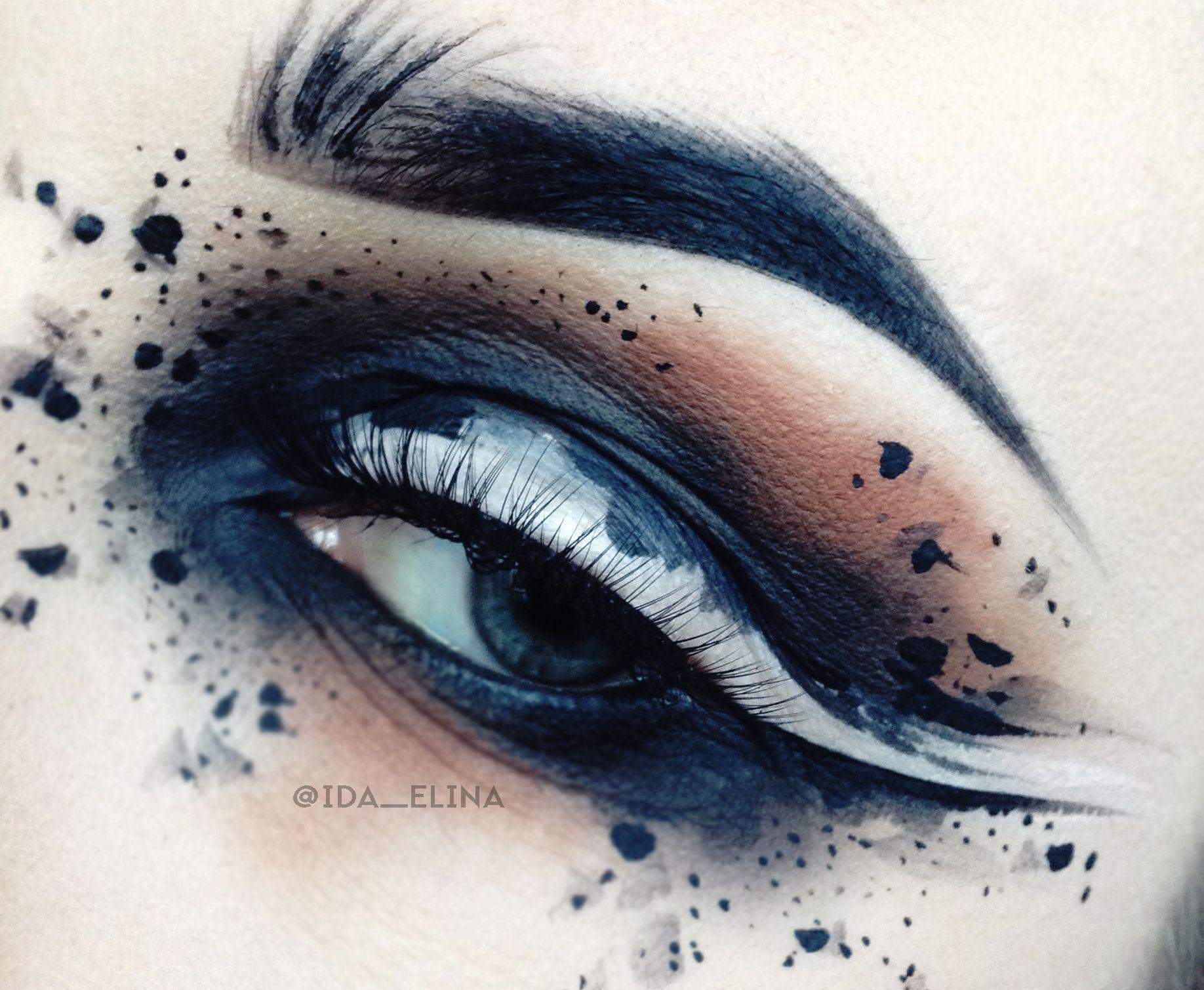 Black White Abstract Art Eye Makeup By Ida Ekman Finnish Makeup Artist Special Makeup Youtube Makeup Makeup Designs