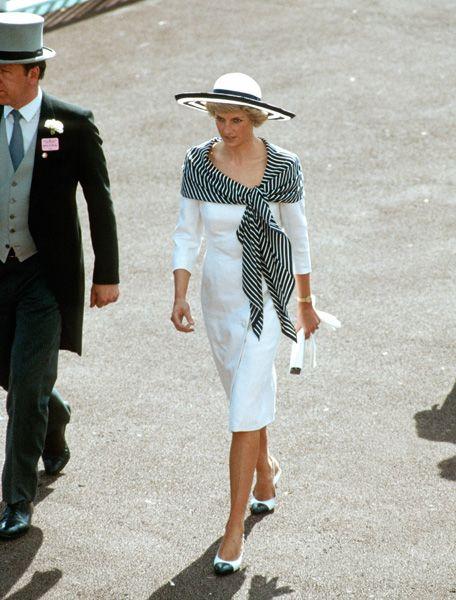 Princess Diana of Wales in Catherine Walker - Royal Ascot 1988