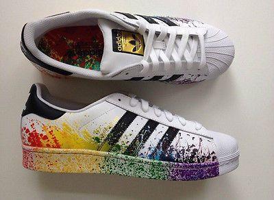 adidas superstar rainbow paint