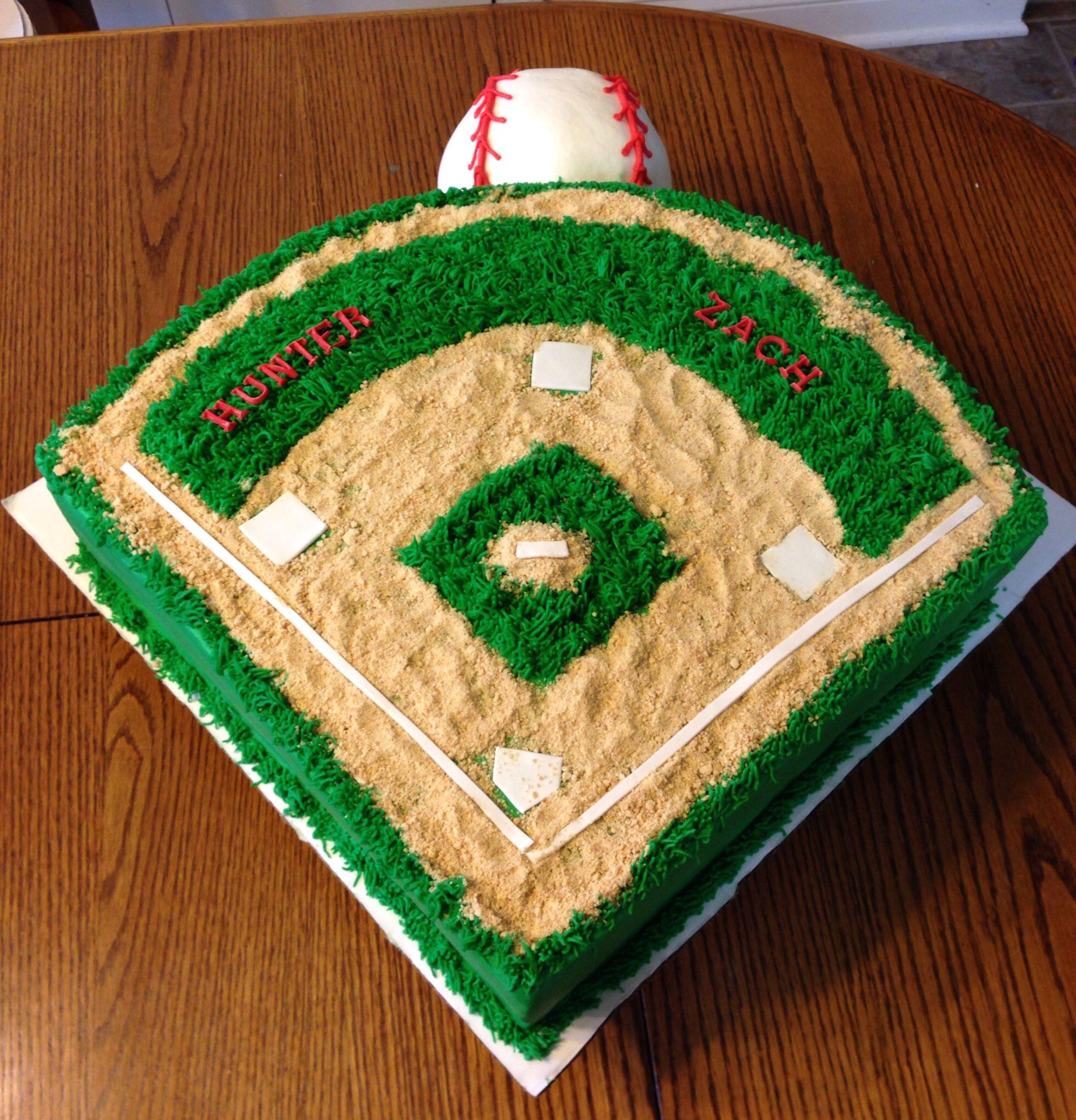 Baseball Field Cake With Images Baseball Cake Baseball Field